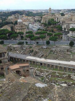 Kilátás Trajanus Fórumára