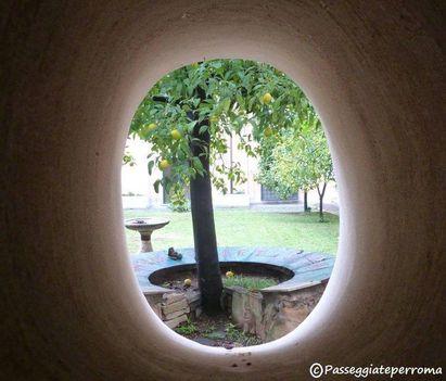 giardino di Santa Sabina, sull'Aventino
