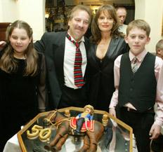 Bajor Imre és családja