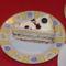 Áfonyás málnás mascarponés torta szelet