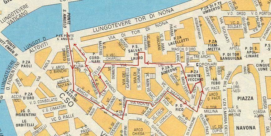 róma térkép Róma: térkép a sétához (kép) róma térkép