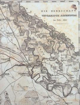 1825- ben készült térkép Magyaróvár környékéről