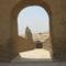 A templomhoz vezető út menti római kori épület boltíve