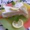 Sütés nélküli citromtorta szelet