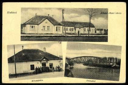 Halászi régi képeslapon