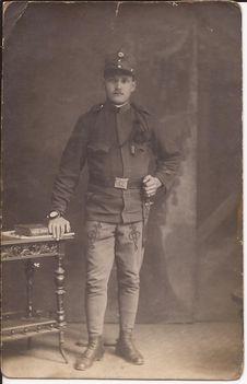 Szári Mihály, 1914. katona