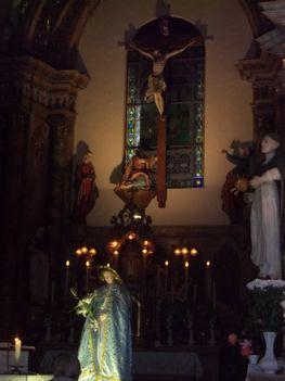 Mária napi körmenet Vasváron.