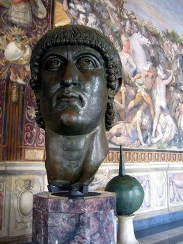 Korabeli bronzszobor Nagy Constantinusról