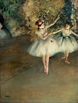 Degas  two dancers on the stage