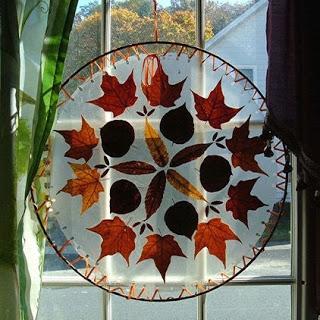 Őszi ablakdísz