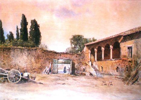 Ettore Roesler Franz_ Loggia della Casa del Cardinale