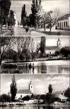 Püski község 1960-as években feladott képeslapon