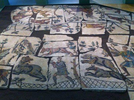 mozaik a Santa Bibiana templomból a Centrale Montemartiniban