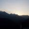 Naplemente a hegyek közt