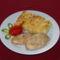 Karfiol sajtmártással sült csirkemellel