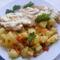 Sajtos-túrós csirkemell káposztás burgonyával