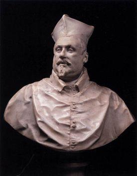Bernini_Cardinal Scipione Borghese első büszt