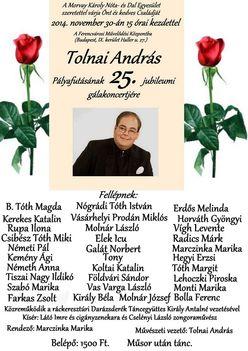 Tolnai András  pályafutásának 25. jubileumi gálakoncertje