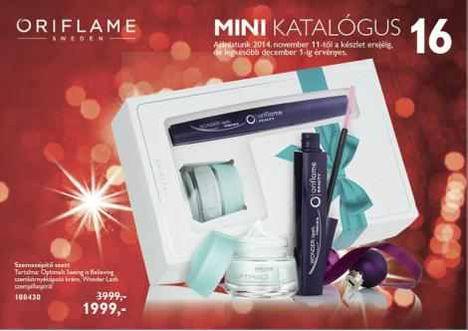 Oriflame mini katalógus.Érvényes 2014 november 11. - től a készlet erejéig december 1. - ig.