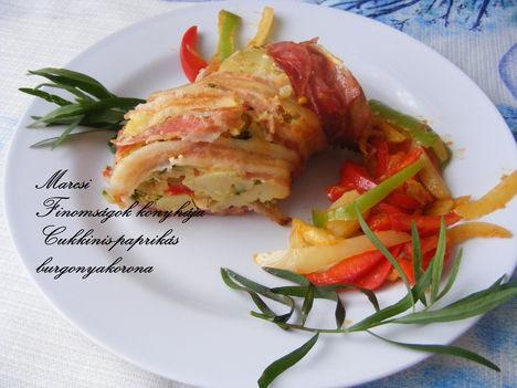 Cukkinis paprikás-burgonyakorona