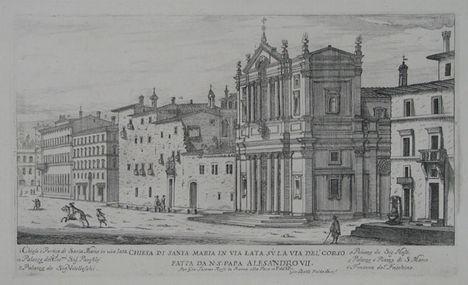 Chiesa Di Santa Maria In Via Lata Su La Via Del'Corso
