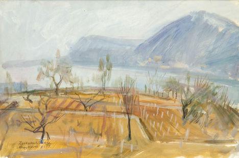 Nagymaros festmény - 1972