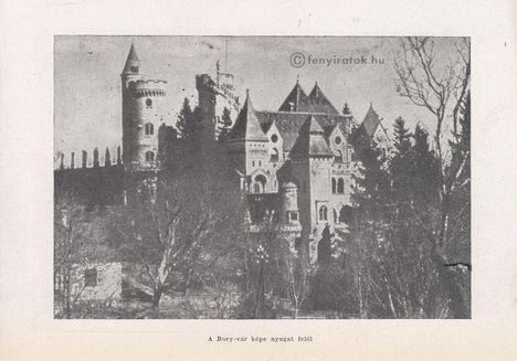 Bory-vár képe nyugat felől