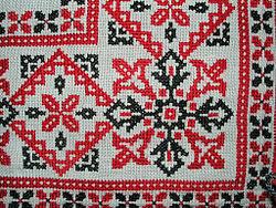 Keresztszemes hímzés, Magyarország, 20