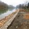 Készül a Mosoni-Duna partrendezése Halászi község belterületén, 2014. november 25.-én