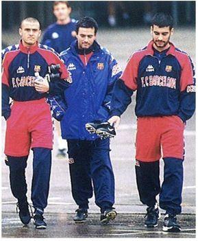 Luis Enrique, Jose Mourinho & Pep Guardiola egykoron