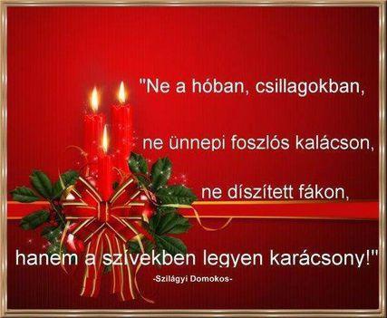 A szívekben legyen karácsony!
