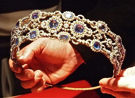 Sissi tiarája melyet híres udvari ékszerész készített