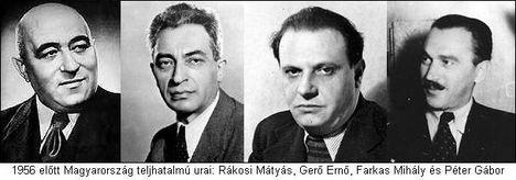 Rákosi, Gerő,Farkas,Révai,Péter Gábor