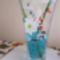 Aranyhalas váza bambusszal, vízkristálzba