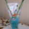 Aranyhalas váza bambusszal, vízkristálzba 2