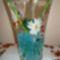 Aranyhalas váza bambusszal, vízkristálzba 3