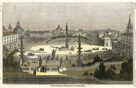 Piazza del Popolo from the Pincian Hill, 1834