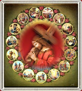 - Jézus  kereszttel