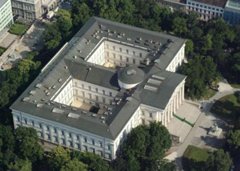 A Nemzeti Múzeum a levegőből nézve