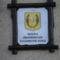 A polgármesteri hivatal táblája .Tóth Tihamér klubtagunk ajánlotta fel.