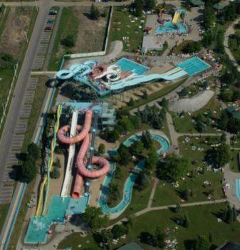 Aquapark fentről