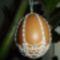 Horgolt tojás gyöngyökkel