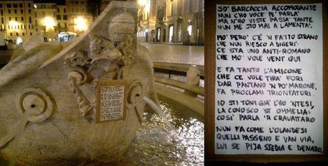 beszélő kúttá vált a Barcaccia