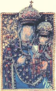 KOLOZSVÁR Könnyező Szűz híres kegyképe.