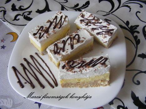 Sütés nélküli gesztenyés kekszes szelet