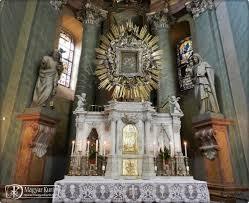 Máriaradna templom belső fő oltár