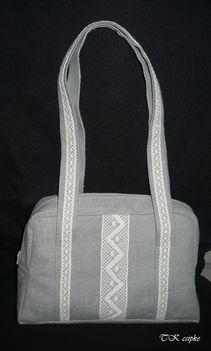 Lenvászon táska vertcsipkével