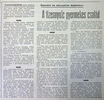 18 gyermekes család. Lébény, Kisalföld, 1970.03.22.3.o