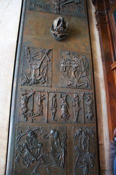 Basilica S. Pietro Door of Good and Evil