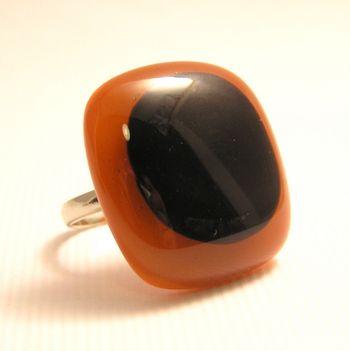 black on orange